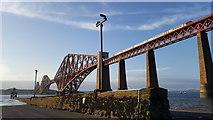 NT1378 : Forth Rail Bridge from Hawes Pier by Clive Nicholson
