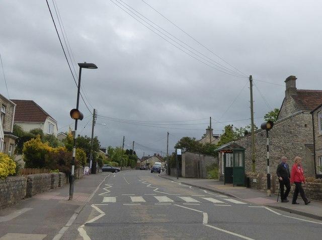 Pedestrian crossing, High Street, High Littleton