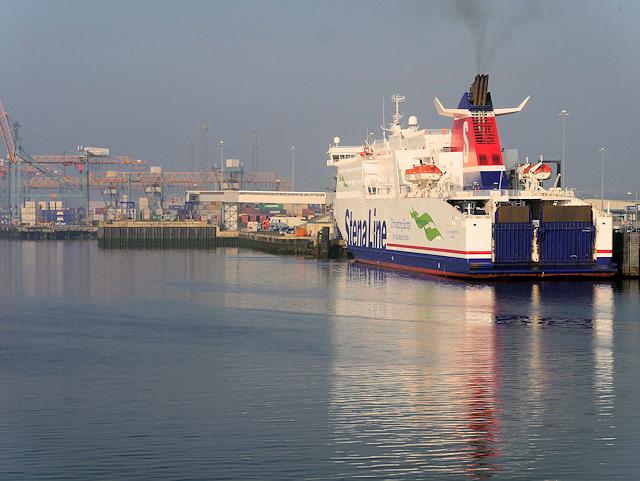 Stena Superfast VIII at Belfast Harbour