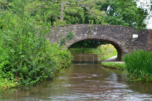 Bridge No. 57 on the Monmouthshire and Brecon Canal