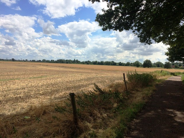Bridleway and Stubble Field on the Fringes of Edenthorpe