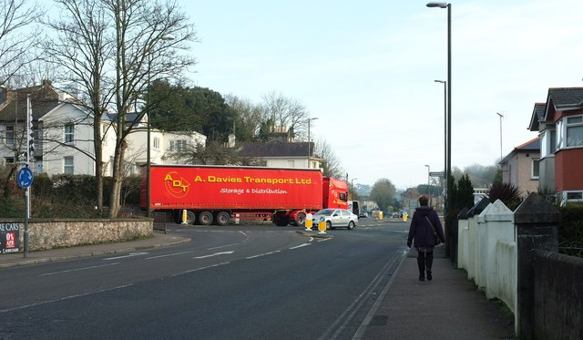 Lorry at junction, Teignmouth Road, Torquay