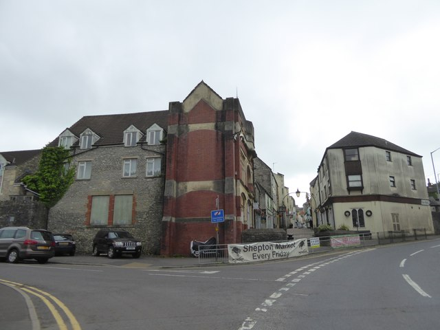 The bottom of High Street, Shepton Mallet
