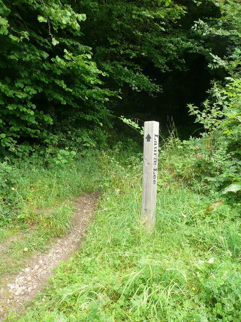 Waymark on the Laurie Lee Wildlife Walk