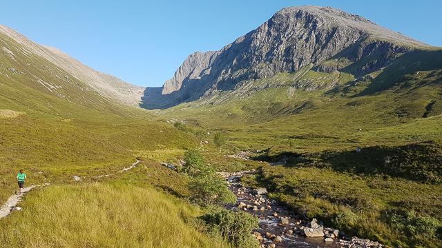 Trail beside the Allt a' Mhuilinn