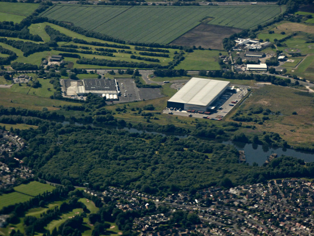 Davyhulme Millennium Nature Reserve from the air