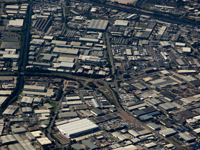 Trafford Park from the air