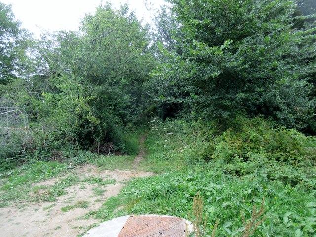 Path to railway footbridge