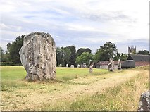 SU1070 : Avebury: the north-west quadrant by Stefan Czapski