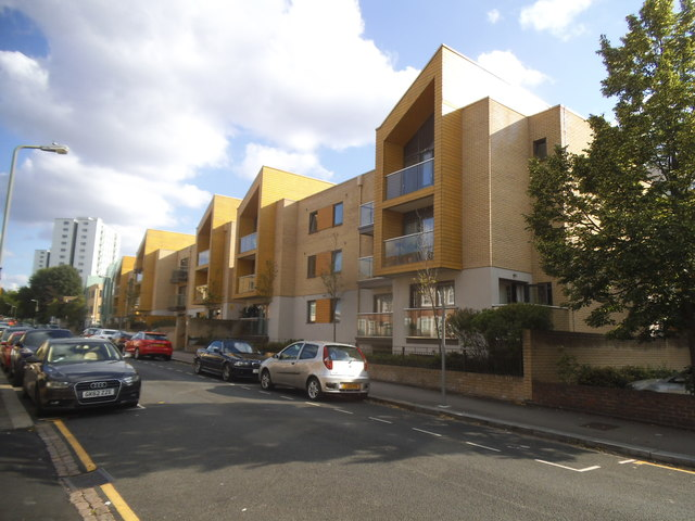 New flats on Granville Road, Childs Hill