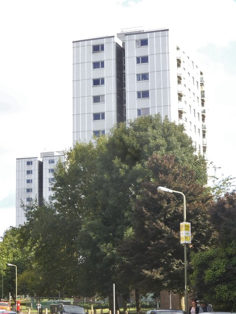 Tower blocks on Granville Road, Childs Hill