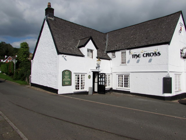 Northwest side of The Cross pub, Aylburton