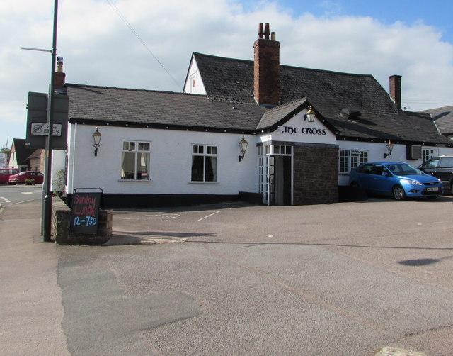 East side of The Cross pub, Aylburton