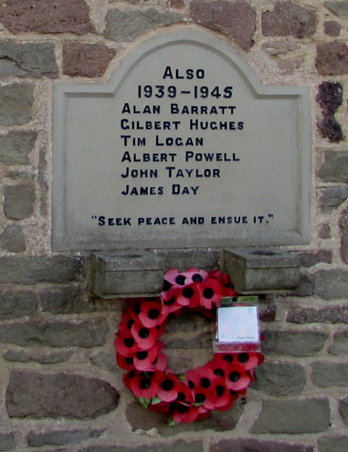Second World War dedication on Aylburton Memorial Hall