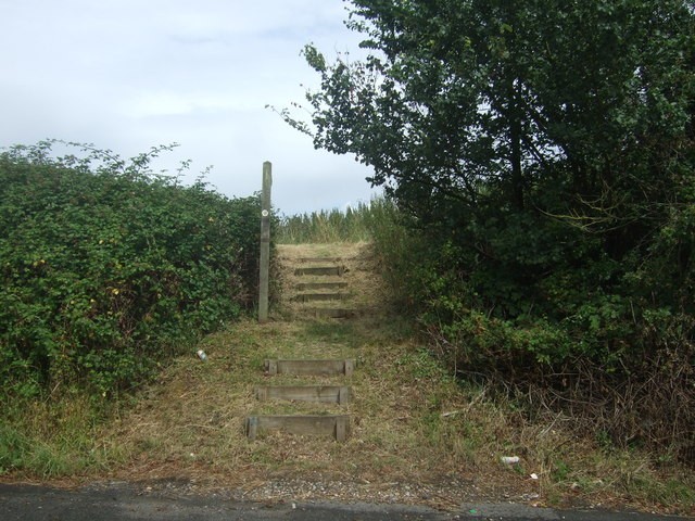 Stepped footpath off Buntsford Hill