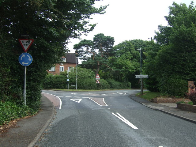 Roundabout on Alcester Road, Burcot