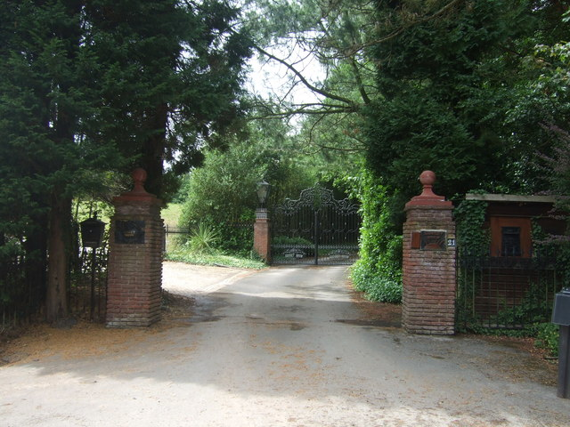 Entrance gates to Sunset Brow