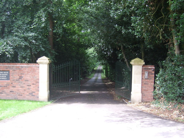 Gated driveway off Mearse Lane