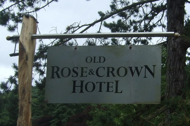 Sign for the Old Rose & Crown Hotel, Lickey