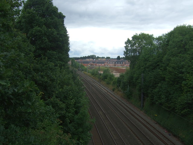Railway towards Bromsgrove