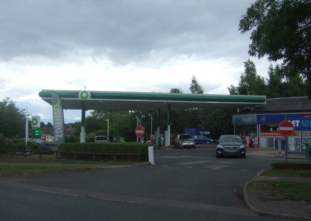 Service station on Groveley Lane
