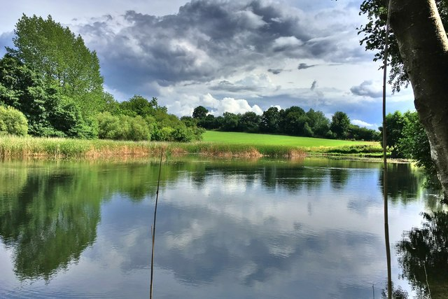 Fishing lake by Astwell Spinney