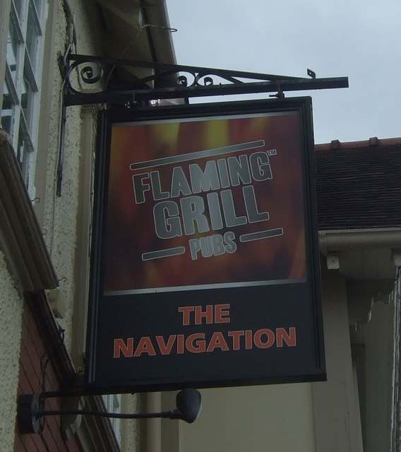 Sign for the Navigation public house, Kings Norton