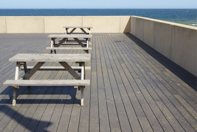 Cafe tables - Redcar seafront