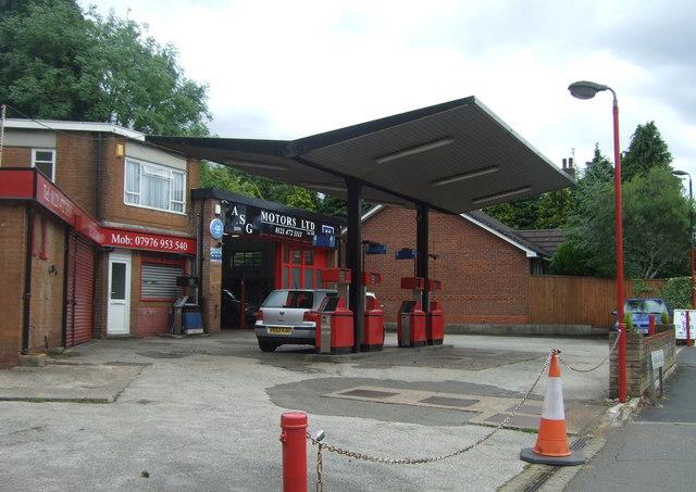 Service station on Franklin Road, Bournville