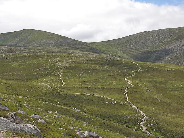 Paths heading north of Cairn Lochan