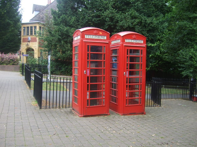Telephone boxes on Sycamore Road, Bournville