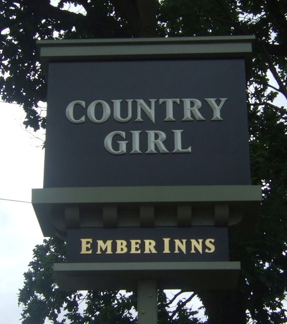 Sign for the Country Girl public house, Selly Oak