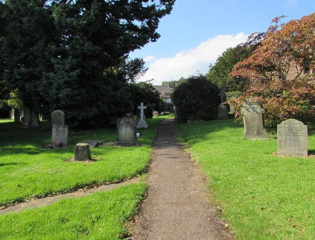 Churchyard path, Aylburton