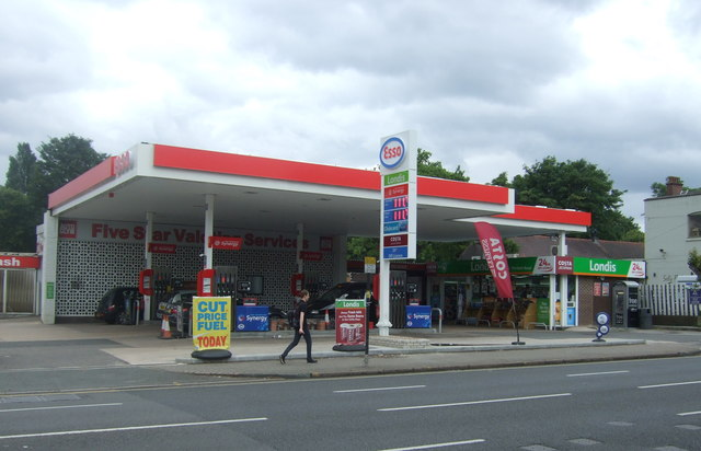 Service station on Pershore Road