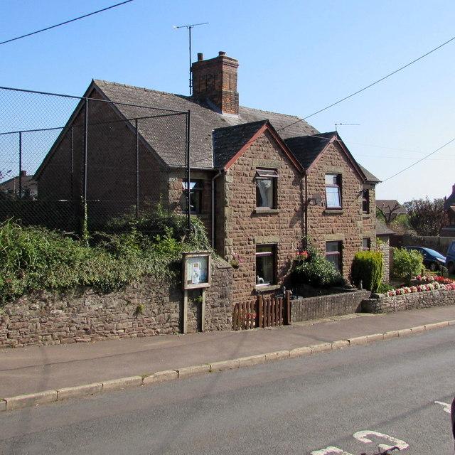 Semi-detached houses, Church Road, Aylburton