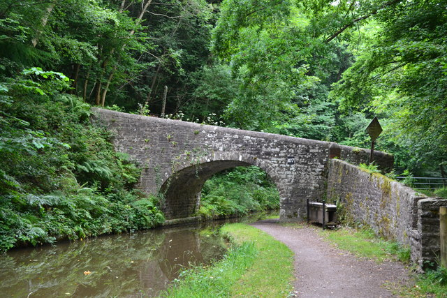 Bridge No. 107 on the Monmouthshire and Brecon Canal