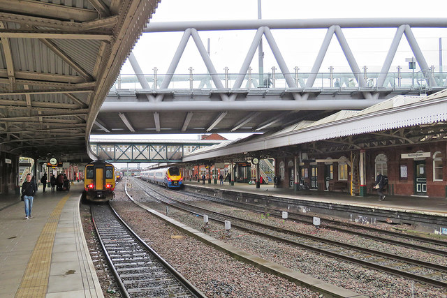 Trains at Nottingham Station