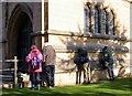 TQ1906 : Lichen survey of Lancing College chapel by Patrick Roper