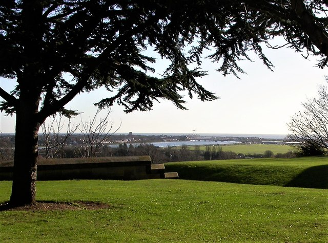 The river Adur and Shoreham from Lancing College chapel