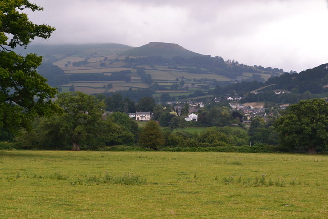 Field near Llangattock with Table Mountain beyond