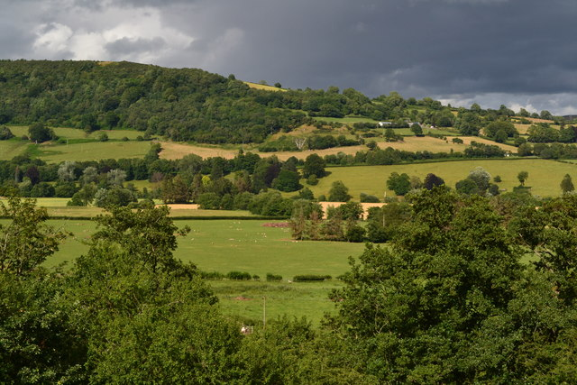 View across the Usk Valley