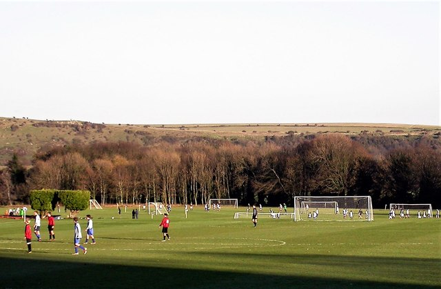 Playing fields at Lancing College