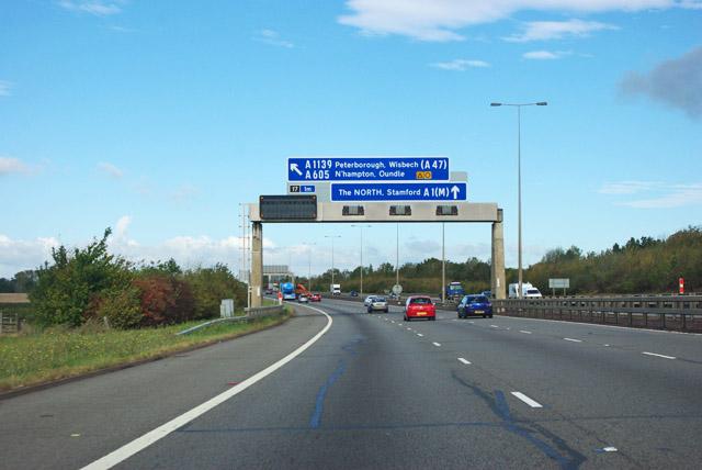 A1(M) northbound