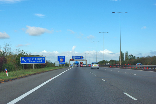 A1(M) northbound