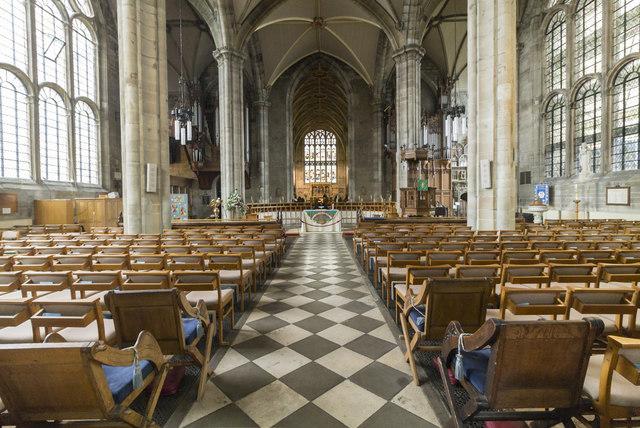 Interior, St Mary's church, Warwick