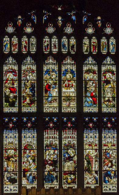 East window, St Mary's church, Warwick