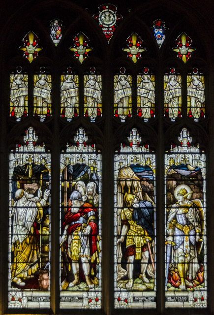 Stained glass window, St Mary's church, Warwick
