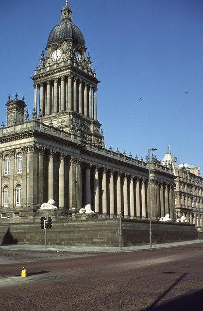Leeds Town Hall in 1980