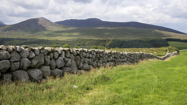 The Mourne Wall near Slieve Binnian