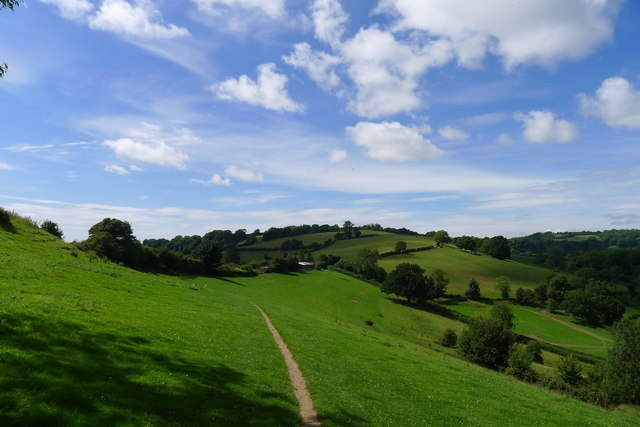 The Cotswold Way on the side of Penn Hill